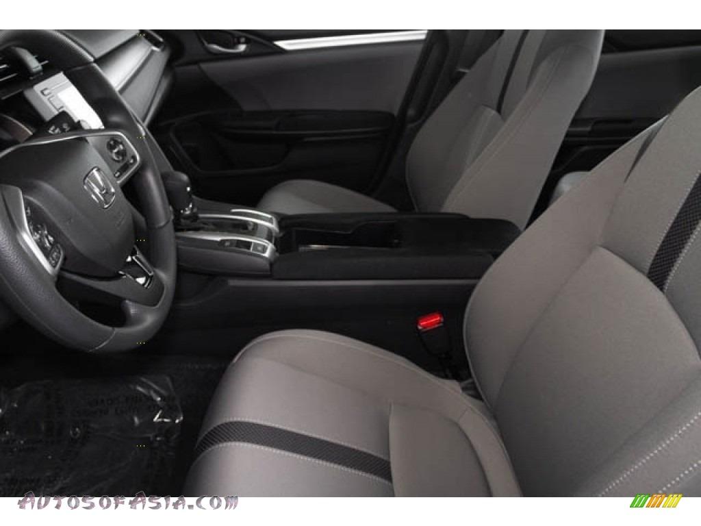 2019 Civic LX Sedan - Cosmic Blue Metallic / Gray photo #16