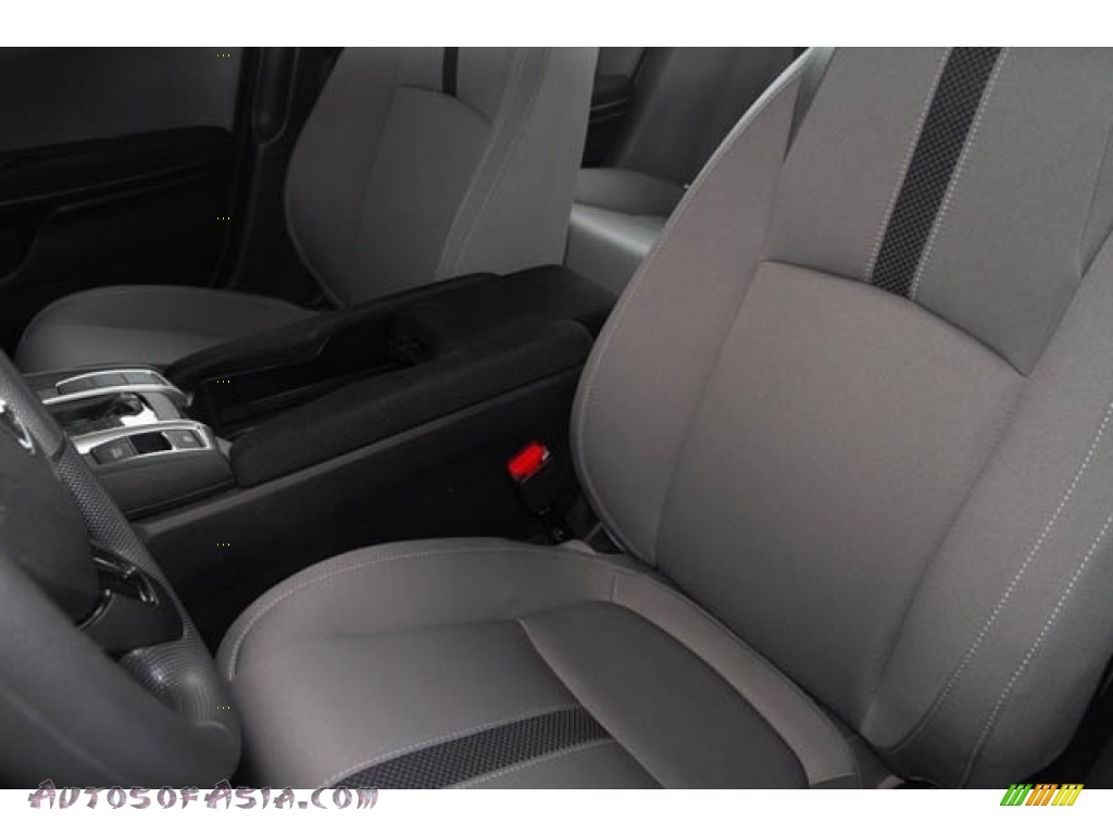 2019 Civic LX Sedan - Cosmic Blue Metallic / Gray photo #23