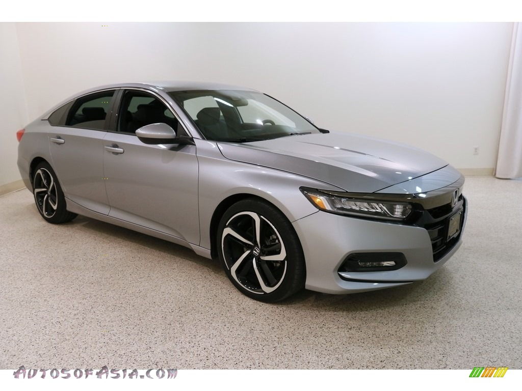 2018 Accord Sport Sedan - Lunar Silver Metallic / Black photo #1