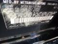Mitsubishi Mirage LE Mystic Black Metallic photo #15
