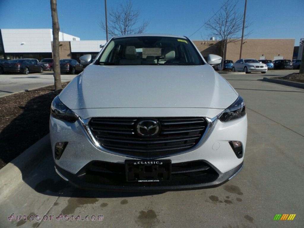 2019 CX-3 Grand Touring AWD - Ceramic Metallic / Black/Parchment photo #1