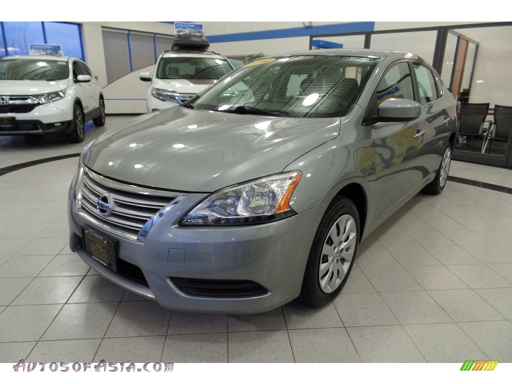 2014 Sentra S - Brilliant Silver / Charcoal photo #1