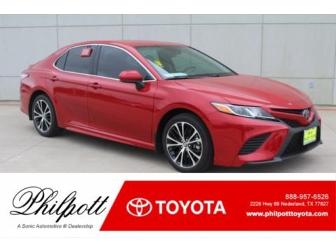 Supersonic Red 2019 Toyota Camry SE