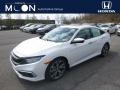 Honda Civic Touring Sedan Platinum White Pearl photo #1