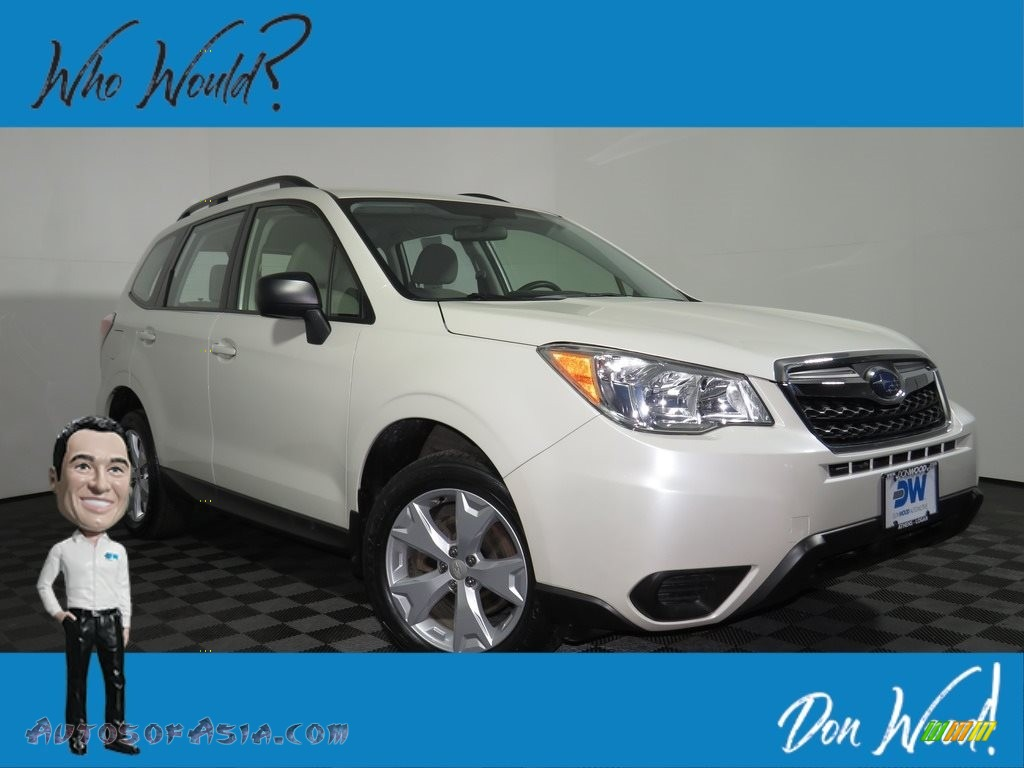 Satin White Pearl / Gray Subaru Forester 2.5i