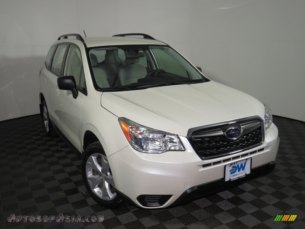 2015 Forester 2.5i - Satin White Pearl / Gray photo #19