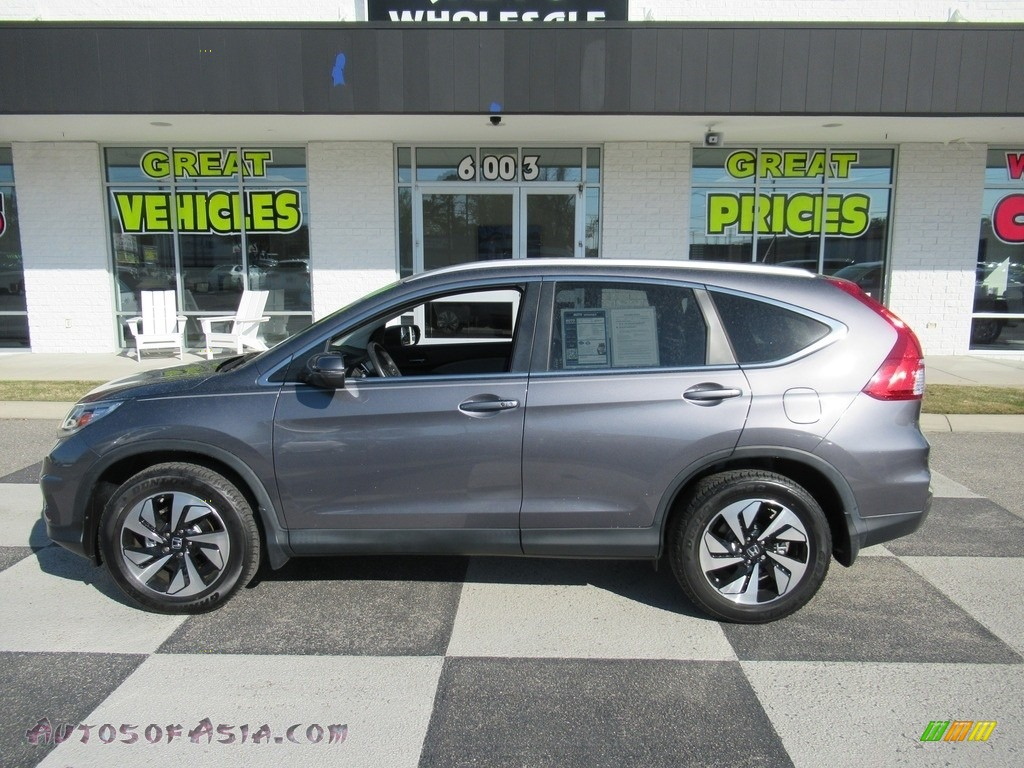 2016 CR-V Touring - Modern Steel Metallic / Gray photo #1
