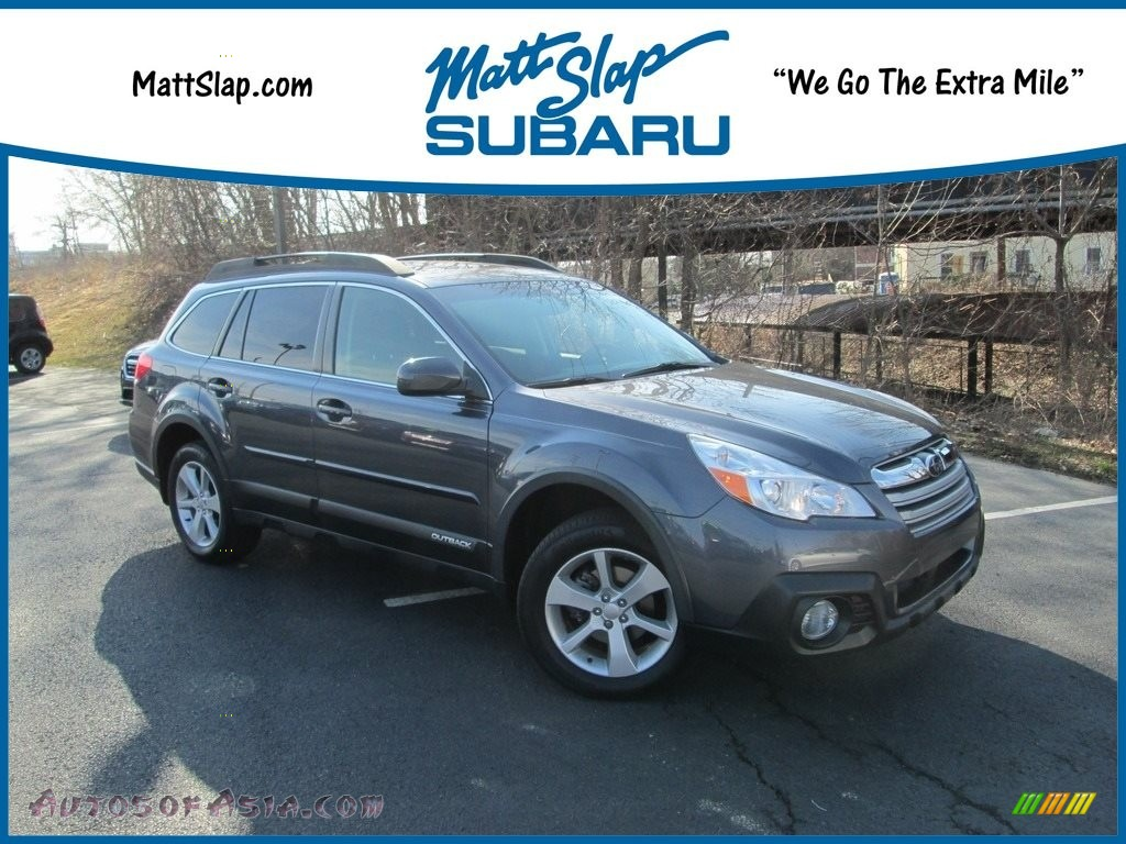 2014 Outback 2.5i Premium - Carbide Gray Metallic / Black photo #1