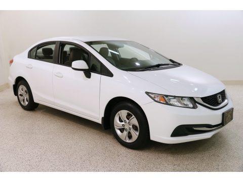 Taffeta White 2013 Honda Civic LX Sedan