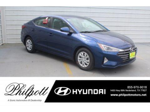 Lakeside Blue 2019 Hyundai Elantra SE