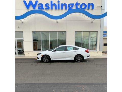 Platinum White Pearl 2019 Honda Civic Sport Sedan