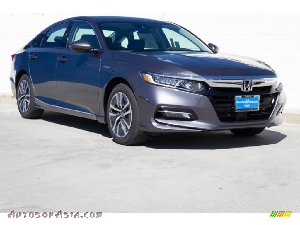 Modern Steel Metallic / Black Honda Accord EX Hybrid Sedan