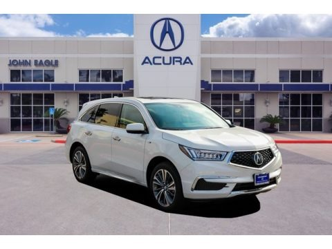 White Diamond Pearl 2019 Acura MDX Sport Hybrid SH-AWD