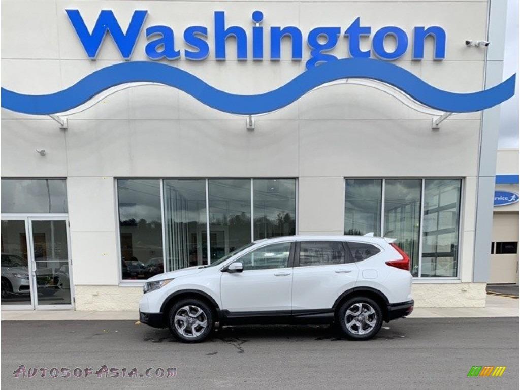 2019 CR-V EX-L AWD - Platinum White Pearl / Gray photo #1