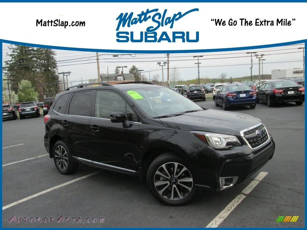 2018 Forester 2.0XT Touring - Crystal Black Silica / Brown photo #1