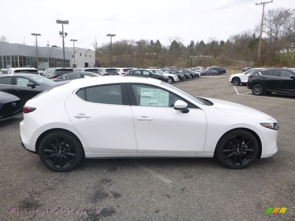 2019 MAZDA3 Hatchback - Snowflake White Pearl Mica / Black photo #1