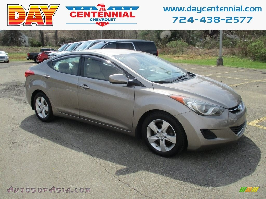 2013 Elantra GLS - Desert Bronze / Beige photo #1