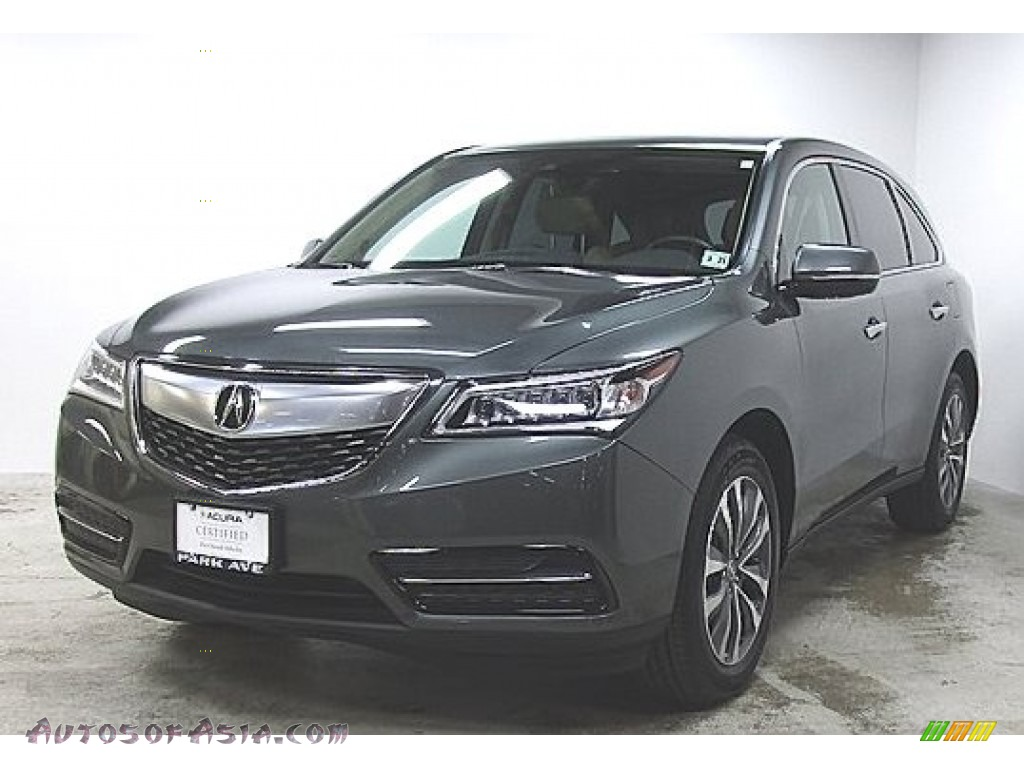 2016 MDX SH-AWD Technology - Forest Mist Metallic / Parchment photo #1