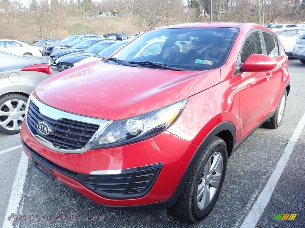 2012 Sportage LX AWD - Signal Red / Black photo #1