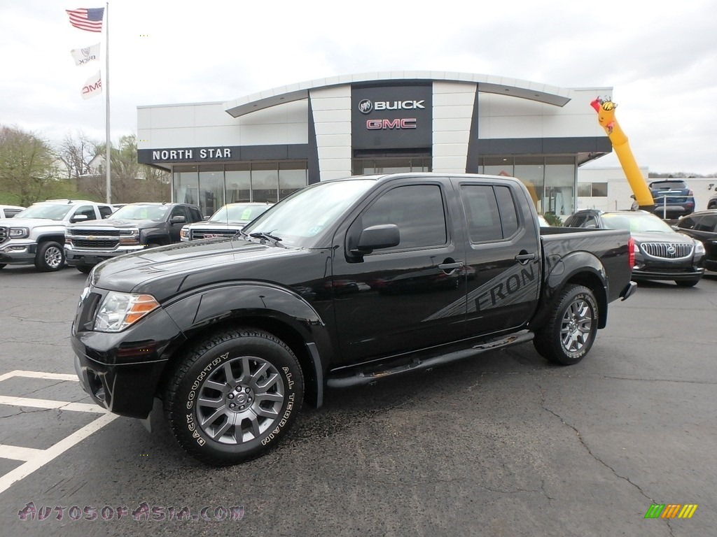 2012 Frontier SV Crew Cab - Super Black / Steel photo #1