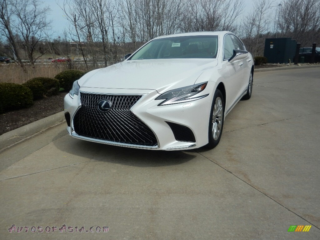 2019 LS 500h AWD - Eminent White Pearl / Parchment photo #1