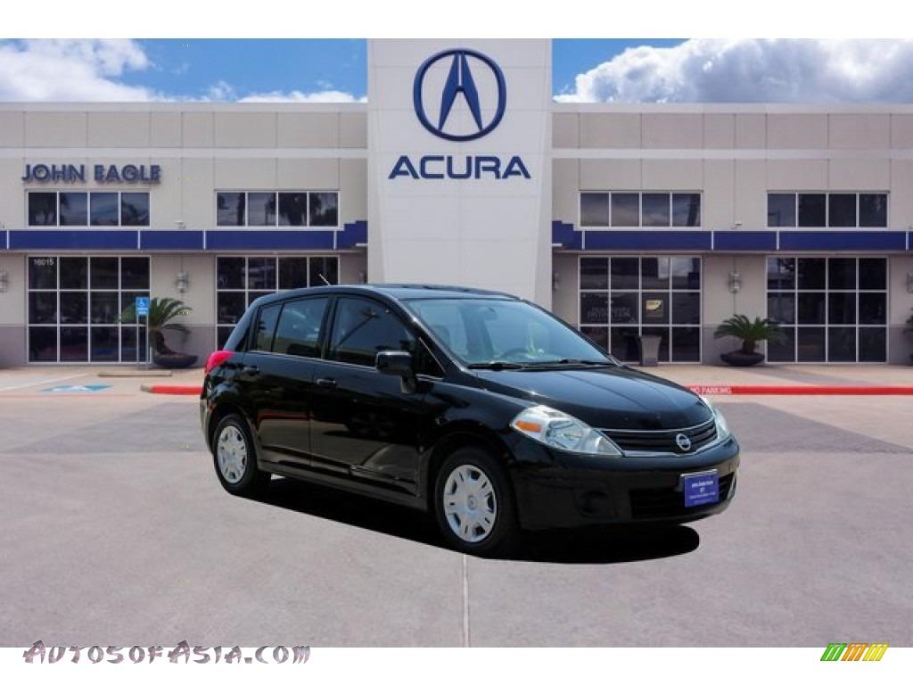 2010 Versa 1.8 S Hatchback - Magnetic Gray Metallic / Charcoal photo #1