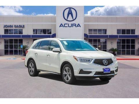 White Diamond Pearl 2019 Acura MDX