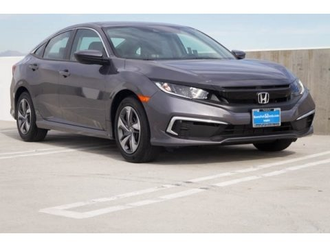 Modern Steel Metallic 2019 Honda Civic LX Sedan