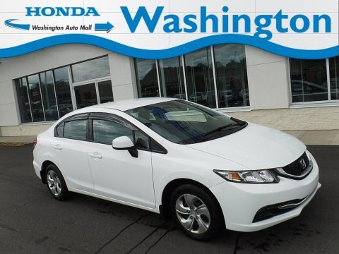 Taffeta White 2013 Honda Civic LX Sedan