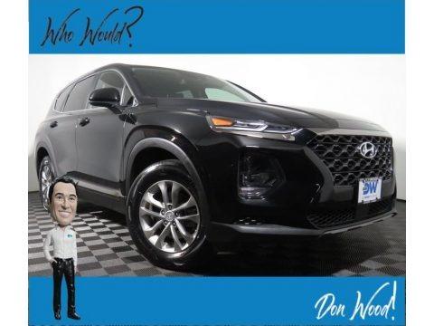 Twilight Black 2019 Hyundai Santa Fe SE AWD