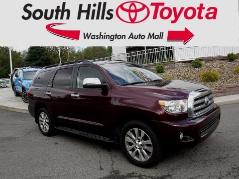 Cassis Red Pearl 2010 Toyota Sequoia Limited 4WD