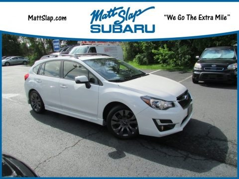 Crystal White Pearl 2016 Subaru Impreza 2.0i Sport Limited