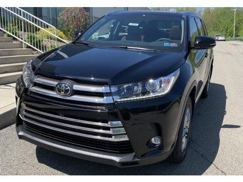 Midnight Black Metallic 2019 Toyota Highlander Limited Platinum AWD