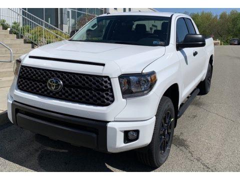 Super White 2019 Toyota Tundra SR5 Double Cab 4x4