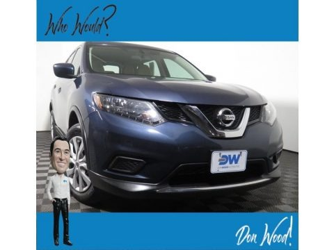 Arctic Blue Metallic 2016 Nissan Rogue S AWD