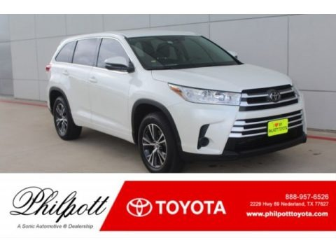 Blizzard White Pearl 2018 Toyota Highlander LE