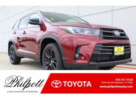 Salsa Red Pearl 2019 Toyota Highlander XLE