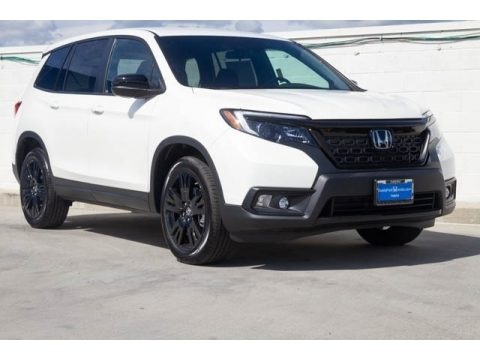 White Diamond Pearl 2019 Honda Passport Sport