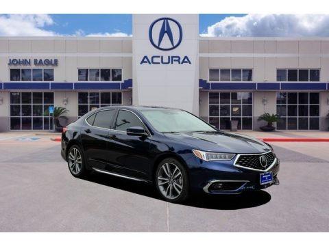 Fathom Blue Pearl 2019 Acura TLX V6 Advance Sedan