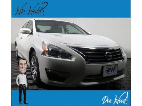 Pearl White 2015 Nissan Altima 2.5 S