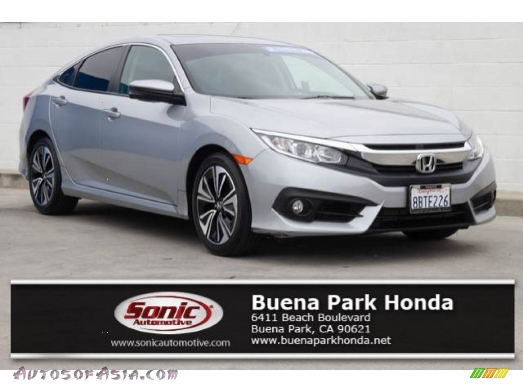 2017 Civic EX-T Sedan - Lunar Silver Metallic / Black photo #1