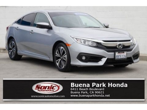 Lunar Silver Metallic 2017 Honda Civic EX-T Sedan