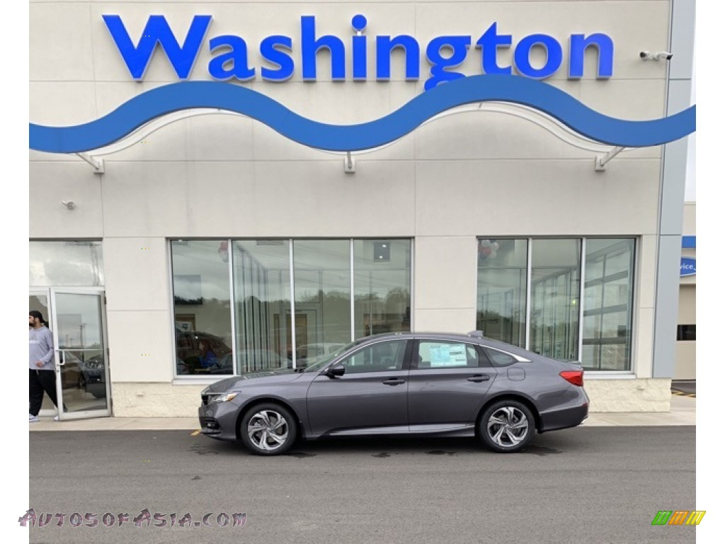 2019 Accord EX-L Sedan - Modern Steel Metallic / Black photo #1