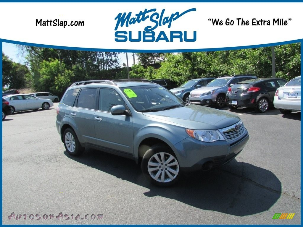 2012 Forester 2.5 X Premium - Sage Green Metallic / Black photo #1