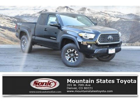 Midnight Black Metallic 2019 Toyota Tacoma TRD Sport Access Cab 4x4
