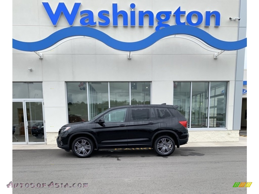 2019 Passport EX-L AWD - Crystal Black Pearl / Black photo #1