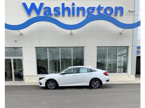 Platinum White Pearl 2019 Honda Civic EX-L Sedan
