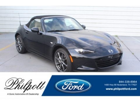 Jet Black Mica 2016 Mazda MX-5 Miata Grand Touring Roadster