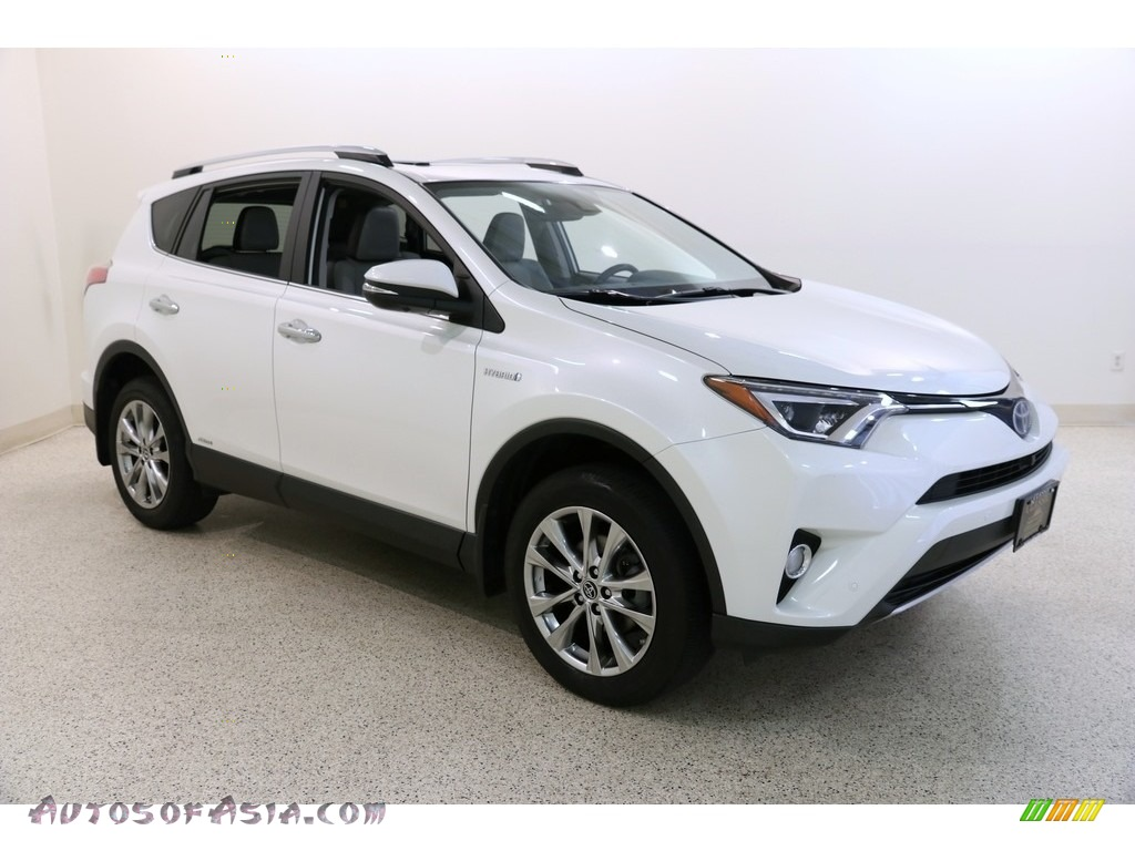 2016 RAV4 Limited Hybrid AWD - Blizzard Pearl / Ash photo #1