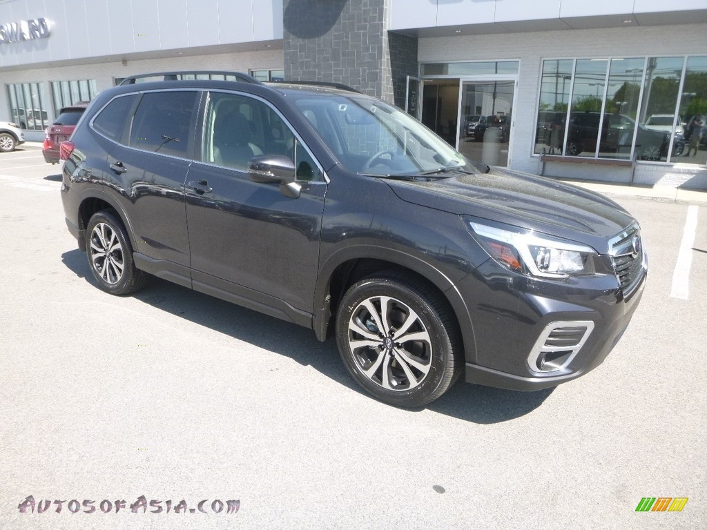 2019 Forester 2.5i Limited - Dark Gray Metallic / Black photo #1